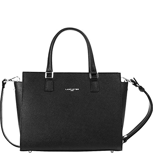 lancaster-paris-adele-satchel-black