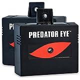 Aspectek Predator Eye Nighttime Solar Powered Animal Repeller - 2 Pack, Waterproof, Deterrent Light Nocturnal Animals