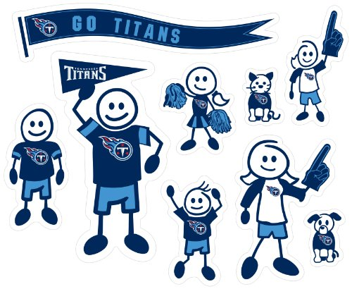 Siskiyou NFL Tennessee Titans Large Family Decal Set