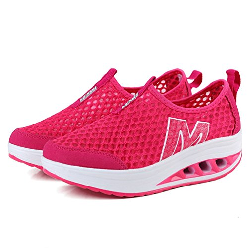 Femmes Baskets Mode Wedge Respirant Chaussures Plate JITIAN Sport Casual Léger Forme Athletic SUdxp0Y