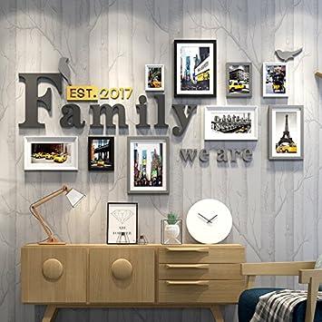 hjky Bilderrahmen Wall Set Foto Rahmen Wand Wohnzimmer mit einfachen ...
