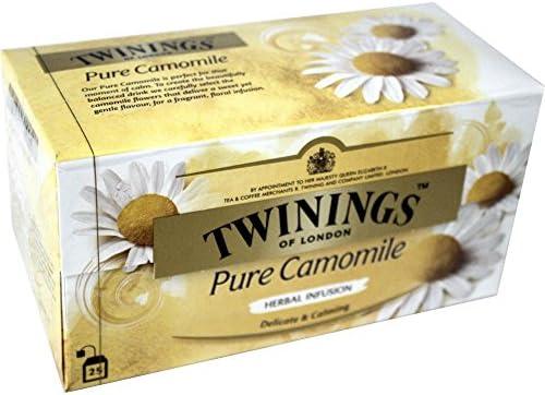 Twinings Infusion Tea Bags Individually-wrapped Camomile Ref A00809 [Pack 20]: Amazon.es: Alimentación y bebidas