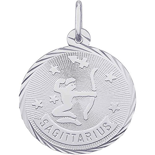 Rembrandt Charms Sagittarius Charm, Sterling (Sterling Silver Zodiac Charms)