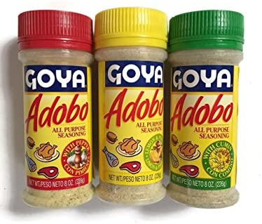 Amazon Com Goya Adobo Seasoning 1 With Pepper 1 With Cumin And 1 With Lemon And Pepper 8 Ounces 3 Pack 1 Of Each Grocery Gourmet Food