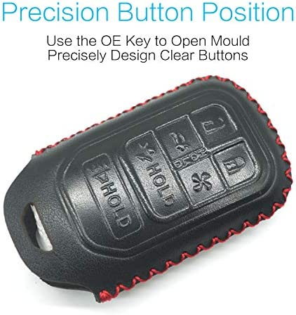 Compatible with fit for 2019 2018 2017 Honda Clarity Electric Hydrogen Plug-In Hybrid Fuel Cell PHEV Smart Leather Case Key Fob Cover Keyless Remote Holder Protecter Accessories Silicone Case MECHCOS Bonus