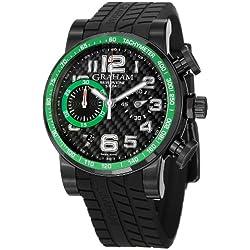 Graham Men's 2SAAB.B02A Silverstone Analog Display Swiss Automatic Black Watch