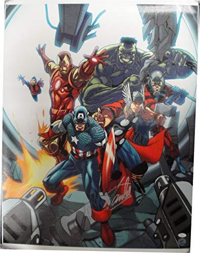Stan Lee Signed Autographed 24x31 Canvas Print Marvel Captain America JSA V67858 from Cardboard Legends Online