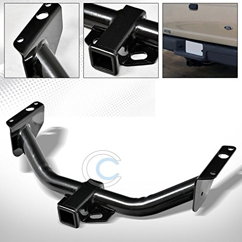 (HS Power Black Finished Class 3 Trailer Hitch Receiver Rear Bumper Tow Kit 2