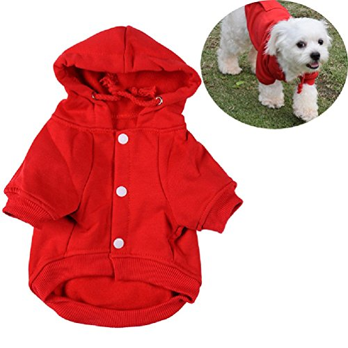 Fashion Cotton Dog Hoodie Pets Dogs Soft Comfortable Clothes Jacket Jumpsuits Pet Animals Jacket Dog Accessories by Defonia Petsupplies (Image #1)