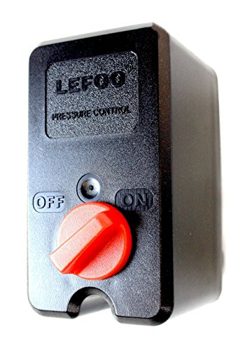 (UNIVERSAL Air Compressor Pressure Switch Single Port w/ Knob on/off 140-175PSI 26AMP)