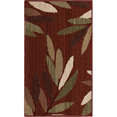 Orian Rugs Modern Floral Design Montage Kona Red Rust Accent Rug (1'11