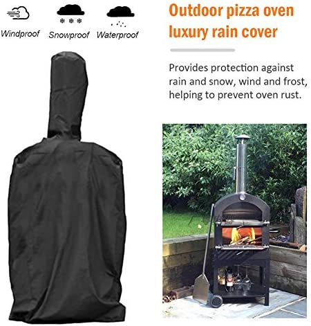 Barbecue Grill Cover Barbecue Cover Tissu Imperméable Noir En Plein Air Four À Pizza Étanche À La Pluie Windproof Cover Barbecue Box Anti-Poussière Anti-UV PVC Coating Cover
