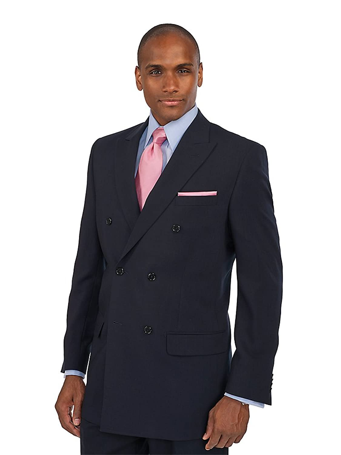 1940s Mens Suits | Gangster, Mobster, Zoot Suits Paul Fredrick Mens 100% Wool Double Breasted Peak Lapel Suit Separate Jacket $179.95 AT vintagedancer.com