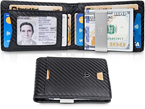 TRAVANDO Mens Wallet Money Clip PHOENIX Front Pocket Slim RFID Bifold Gifts