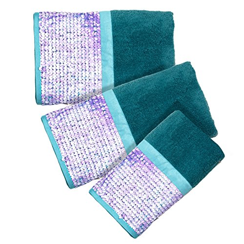 Popular Bath Tami 3-Piece Towel Set, Aqua