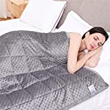 Kpblis Weighted Blanket 15 lbs 60' x 80' for 140-180 lbs, 7 Layers Heavy Blanket with Soft and Breathable Fabric for All-Seasons, Grey