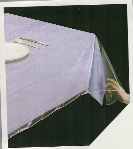 - Home D¡§?cor Superior Collection Clear Heavy Duty Tablecloth Protector 54