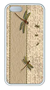 IMARTCASE iPhone 5S Case, Dragonfly Insects Words Case for Apple iPhone 5S/5 TPU - White