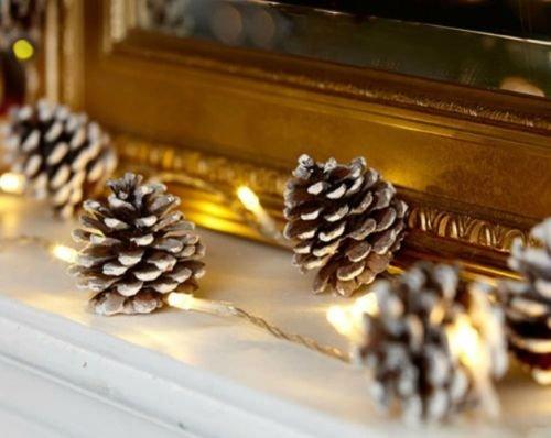 Woodland 40 LED Christmas Lights with Pine Cones Christmas Decoration Lights