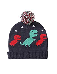 Grandwish Toddler Boy's Winter Ears Coverage Hat, Baby Boy Dinosaur Hat for Age 1-4