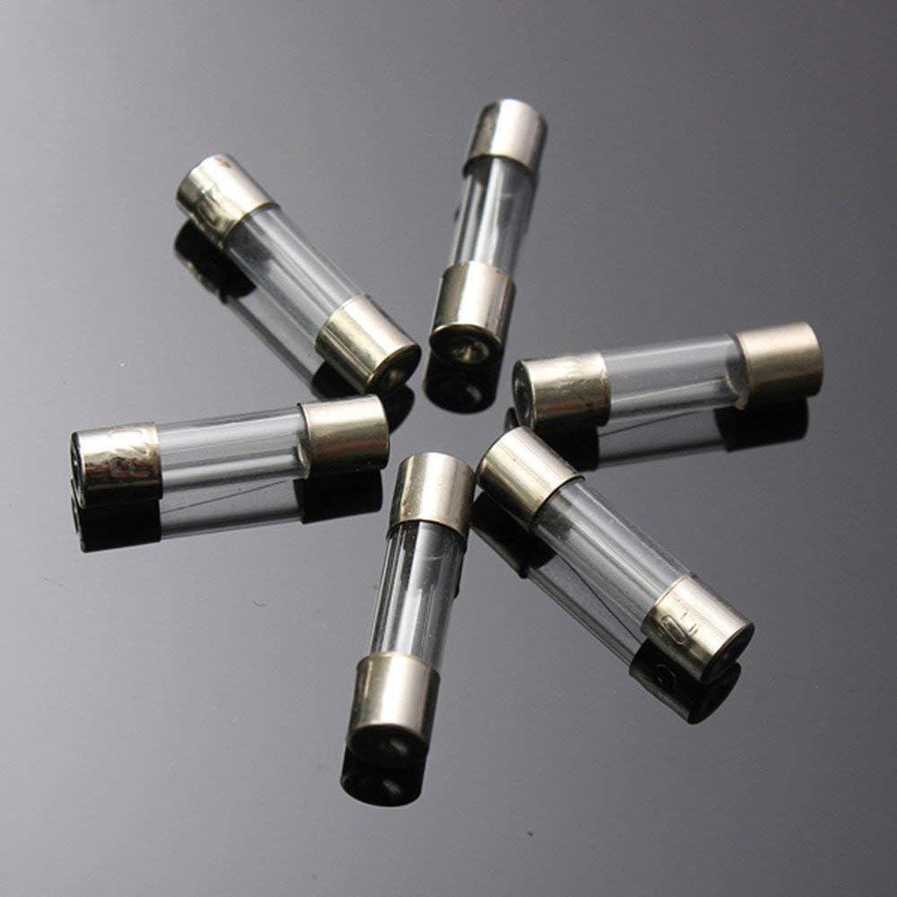 RUITASA 100Pcs Fast-blow Glass Fuses Assorted Kit 5x20mm 250V 0.2A 0.5A 1A 2A 3A 5A 8A 10A 15A 20A