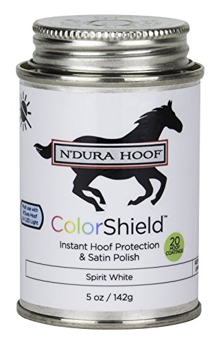ColorShield Instant Hoof Protection & Polish. Color: SPIRIT WHITE. Hardens in 60 Seconds with UV Light (Included). Rich Color & Protection. Safe, Removable. Lasts up to 2 Wks. 5 Oz - Colorshield