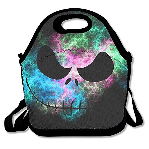 Jack Skellington Face Nightmare Multifunctional Lunch Tote Bag
