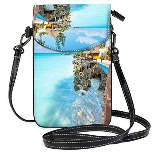 Zanzibar Leather (Multicolor Shoulder Messenger Bag Phone Purse Vacation on Zanzibar Multifunction Travel Crossbody Purse Wallet)