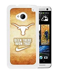 NCAA Texas Longhorns 20 White Hard Shell Phone Case For HTC ONE M7