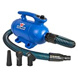 XPOWER B-24 X-Treme Force Dryer with Dual Heat Settings, 3 HP
