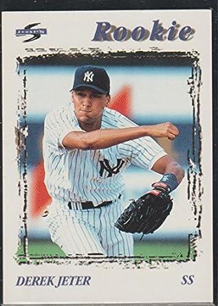 1995 Score Derek Jeter Yankees Rookie Baseball Card 240 At Amazons