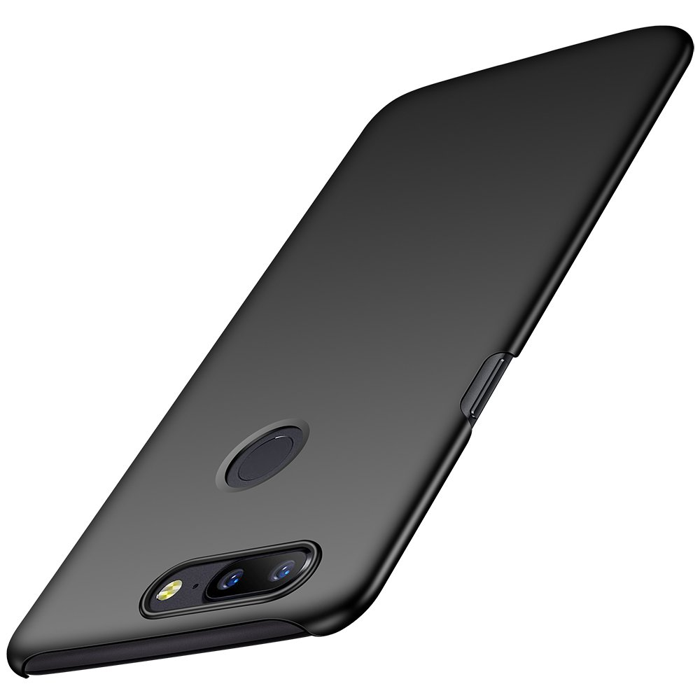 Anccer OnePlus 5T Case [Colorful Series] [Ultra-Thin] [Anti-Drop] Premium Material Slim Full Protection Cover for OnePlus 5T (Smooth Black)
