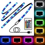TV Backlight, Avanz TV LED Light Strip for 32-60in TV, Upgraded TV Bias Lighting with 16 Changing Colors & RF Wireless Remove, Waterproof LED Light Strip USB Powered for TV Desktop PC