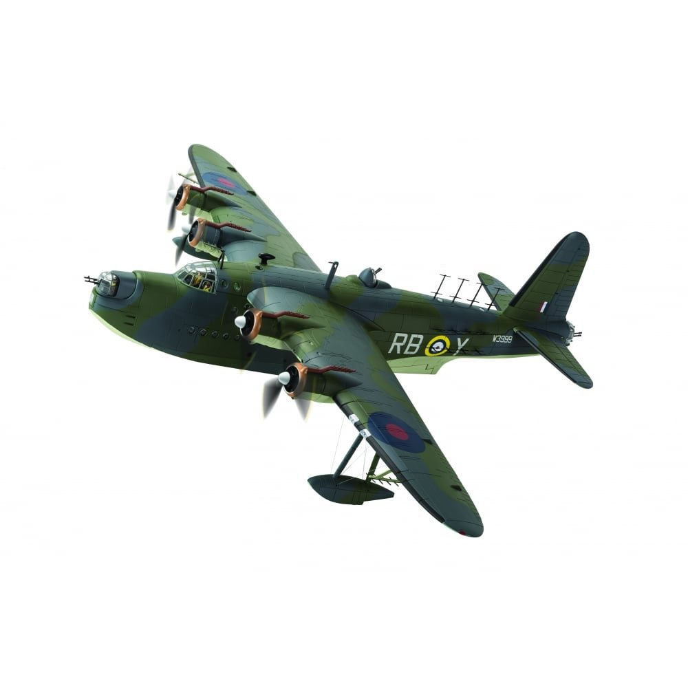 Corgi aa27503 kurz Sunderland Mk. III w3999/rb-y Nr. 10 Squadron Raaf Base Early 1942 Modell