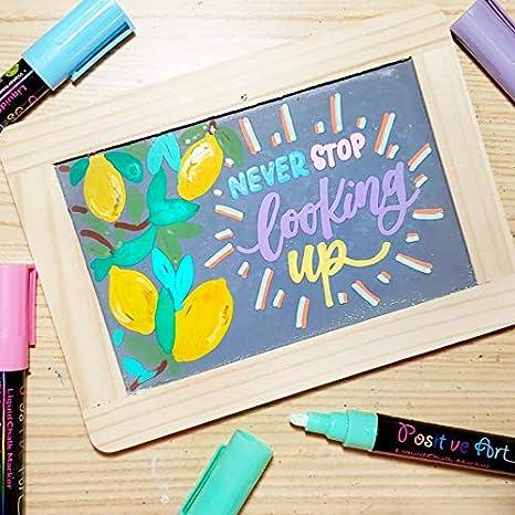 Amazon.com: Marcadores de tiza líquida de 30 colores por ...