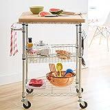 Cheap 20″ x 40″ 3 Tier Maple Butcher Block Gourmet Basket Cart