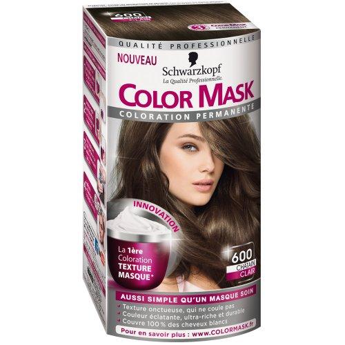 schwarzkopf color mask coloration permanente pour cheveux chtain clair 600 amazonfr hygine et soins du corps - Color Mask Chatain Clair