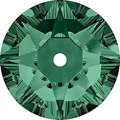 3188 Swarovski Sew On Crystals Lochrose Sequins Emerald   5mm - Pack of 25   Small & Wholesale Packs