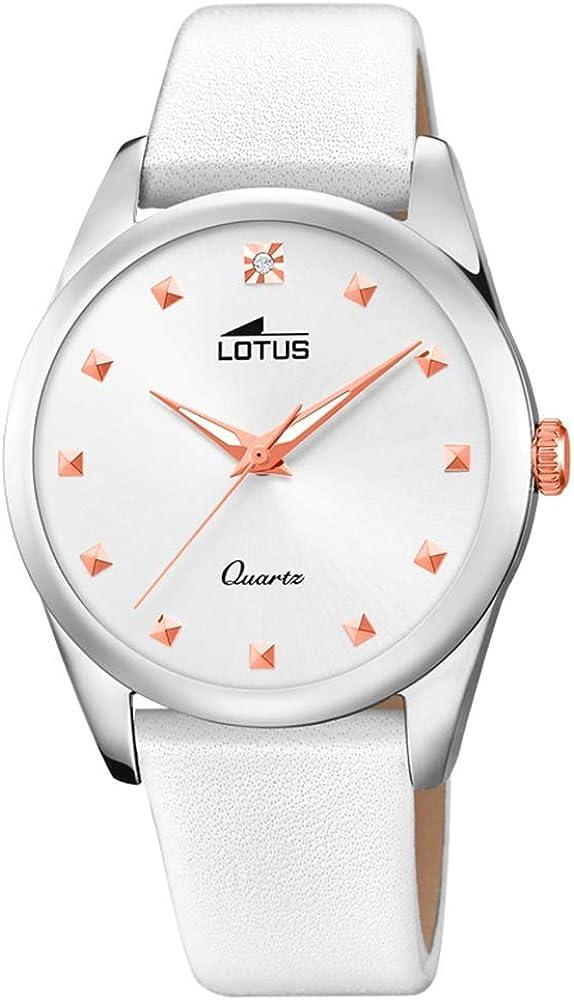 Lotus Reloj Analógico para Mujer de Cuarzo con Correa en Cuero