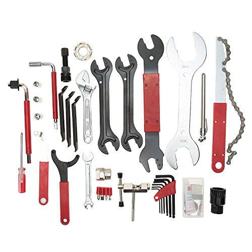Lixada 44PCS Cycling Bicycle Bike Repair Stand /Tools Kit Portable Multi functional Tool Set