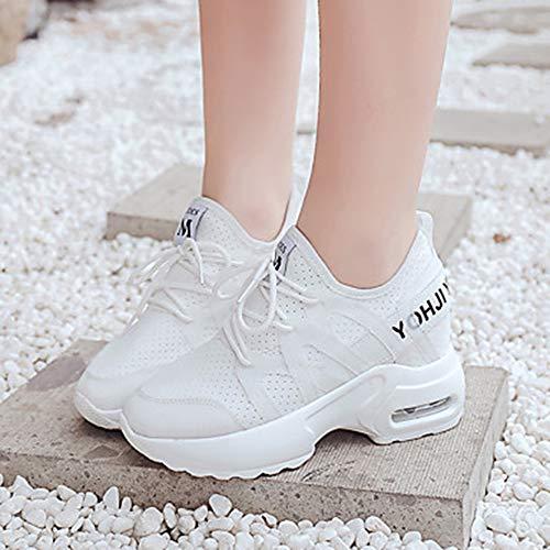 Maille Rouge TTSHOES Chaussures Basket CN35 White Blanc Vert Creepers 5 Été Printemps Confort Marche Polyuréthane EU36 Bout US5 Rond UK3 Femme 5 SSEwqO