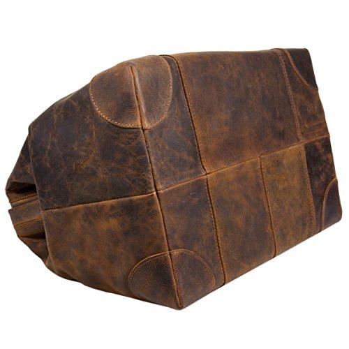 Greenland Nature Classic Bügeltasche Doktorkoffer Leder 41 cm brown