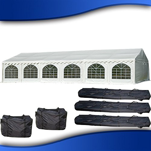 40'x20' PVC Party Tent - Heavy Duty Wedding Canopy Gazebo Carport - with Storage Bags - By DELTA Canopies