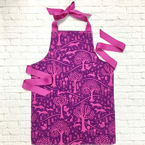Purple Fox and Rabbit Tween Girl Gift Baking Art Craft Apron