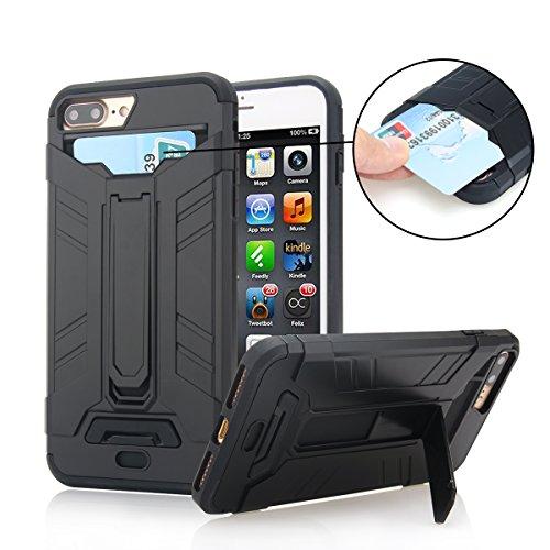 iPhone 7 Plus Case, Moonmini Card Holder Slim f...