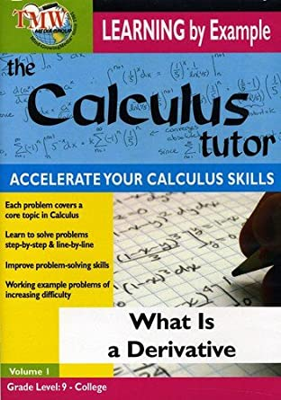 Amazon.com: What Is a Derivative: Calculus Tutor Series: Learnining ...