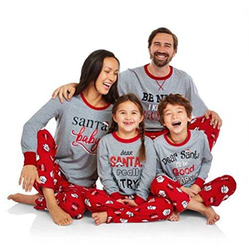 TheFoud Family Matching Christmas Pajama Set Sleepwear Nightwear Homewear (L, - Christmas Pajamas