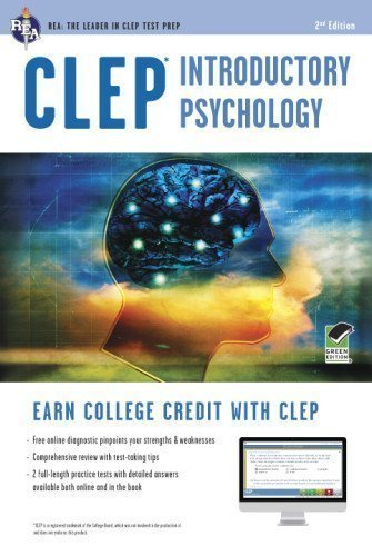 CLEP Introductory Psychology w/ Online Practice Exams (CLEP Test Preparation) 2nd (second) Edition by Sharpsteen Ph.D., Don J. [2012]