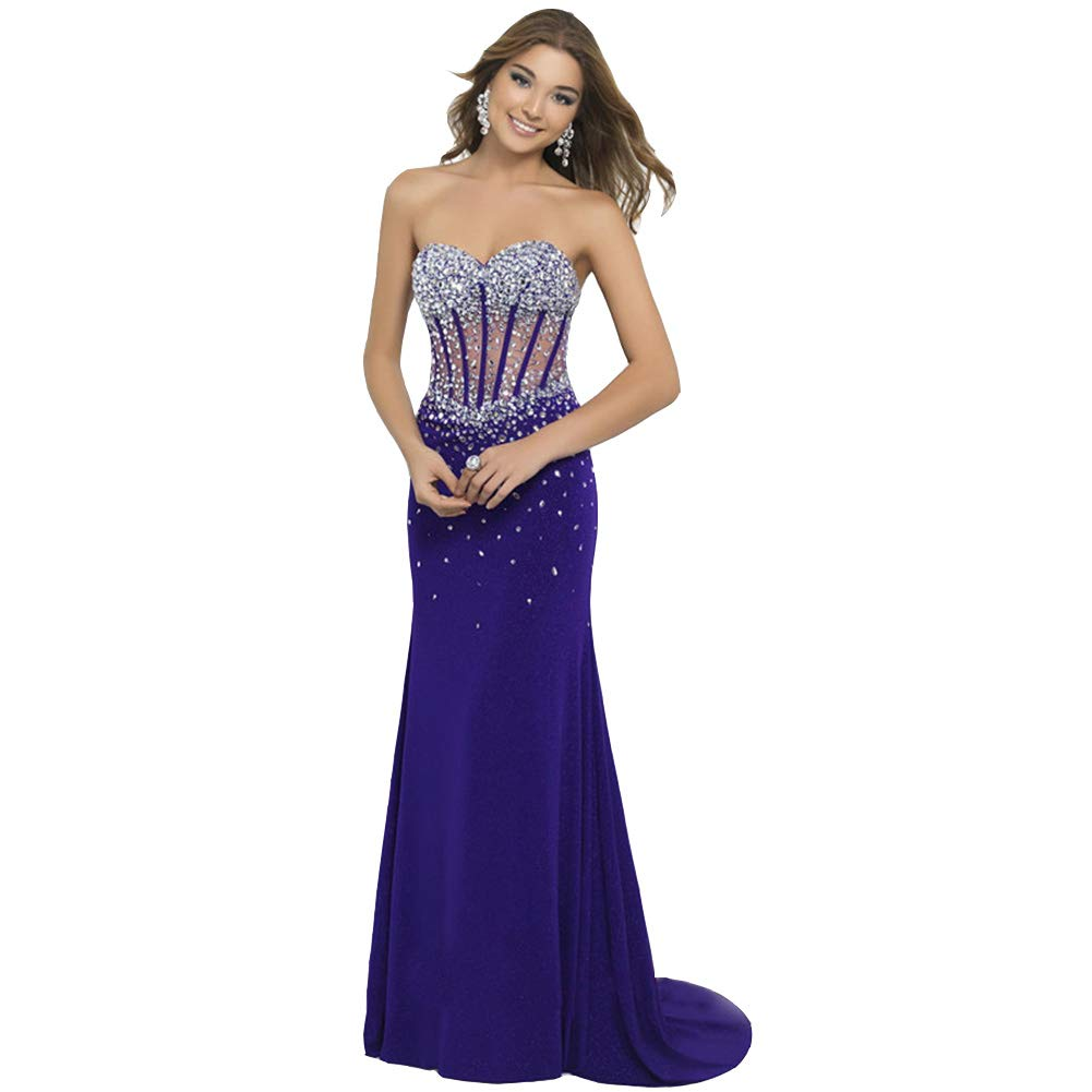 bluee Seasail New Sexy Backless Slim Bride Corset Skirt Fashion Wedding Evening Gowns