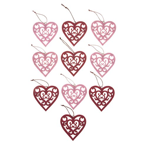 Fox Valley Traders Valentines Day Ornaments, Set of 10